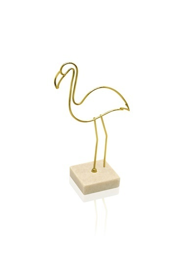 The Mia Biblo-Metal Flamingo 9.5x5x19 Cm Altın